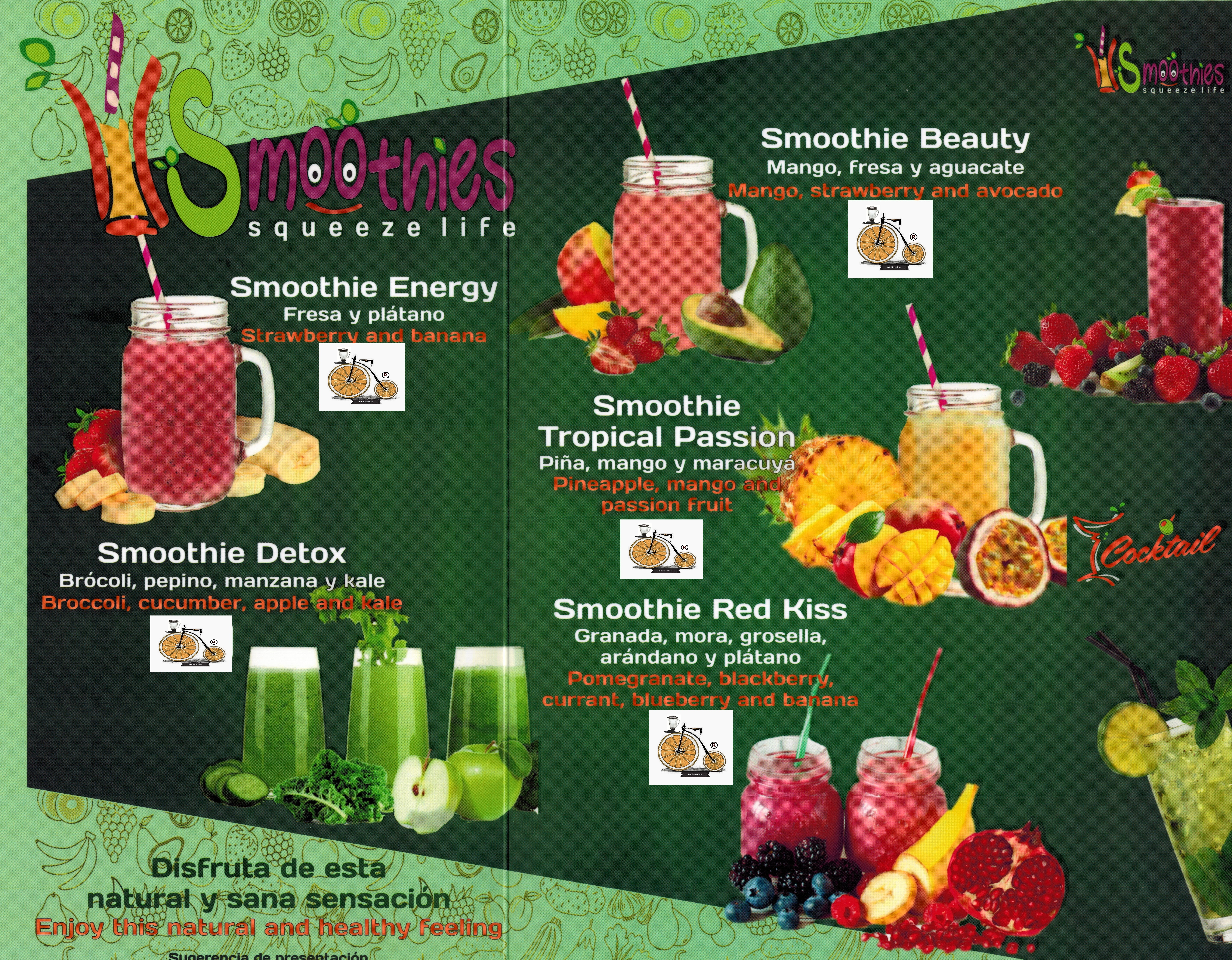 CARTA DE SMOOTHIES